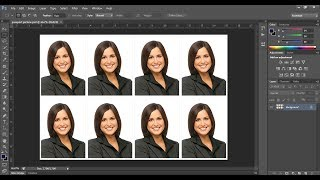Comment Créer une photo format passeport dans adobe Photoshop cc | Photoshop tutoriel