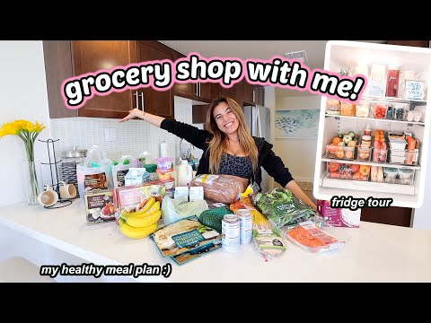 HUGE HEALTHY GROCERY HAUL! My personal trainers meal plan for me