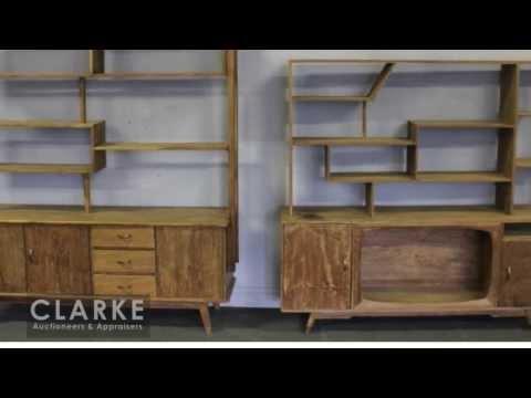 Mid-Century Cabinets | MidCentury | Mid-Century | Clarke Auction Gallery