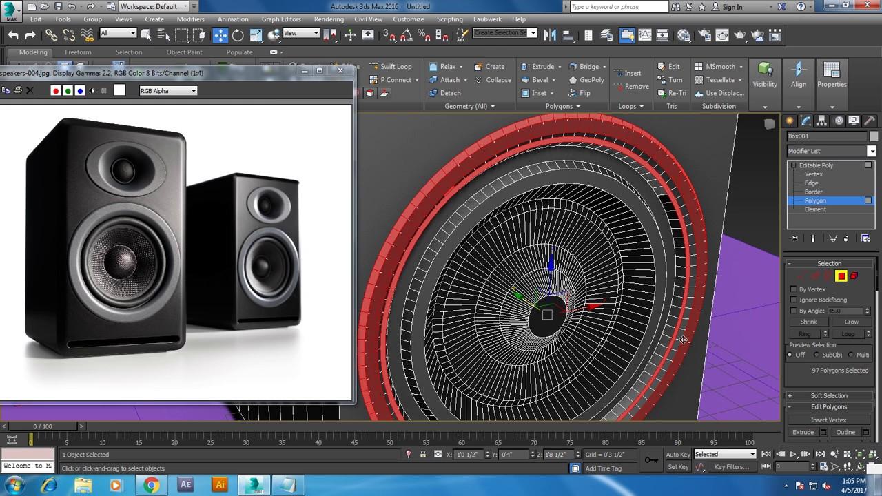 Tutorial on Modeling Speakers in 3dsmax