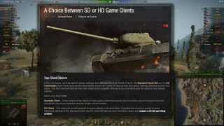 World of Tanks 9.8 Update: Choose SD or HD?
