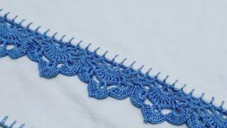 Como fazer Bico de Crochê em Pano de Prato