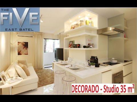 Decorado  The five  34 m² Centro / Batel Curitiba investimento lançamento