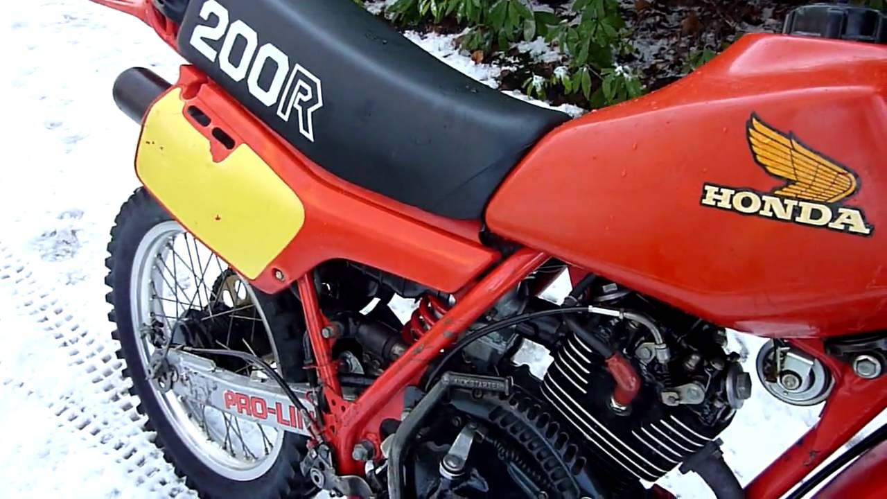 Honda XR200 RC 1982 - YouTube