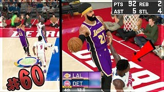 BEST OFFENSIVE THREAT SCORES 100 WITH 8 SECONDS LEFT on HALL OF FAME!? NBA 2k20 MyCAREER Ep 60