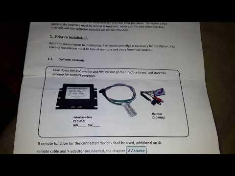 Подключение камеры заднего вида к RNS-E через видеоинтерфейс.