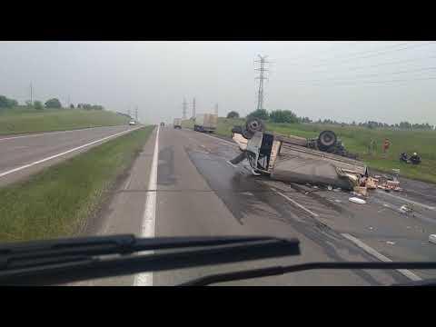 Жесткая авария на трассе Новокузнецк Ленинск-Кузнецкий!