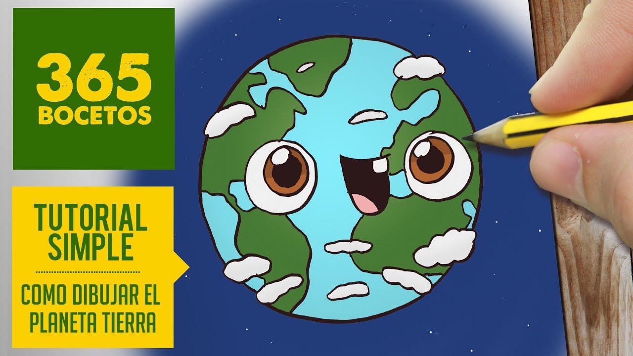 Como Dibujar Planeta Tierra Kawaii Paso A Paso Dibujos Kawaii Faciles How To Draw A Earth