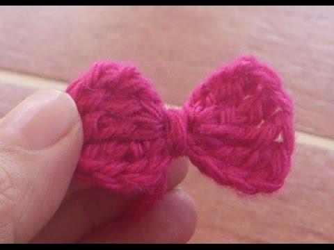 C mo hacer un lazo a crochet youtube for Cosas de ganchillo faciles