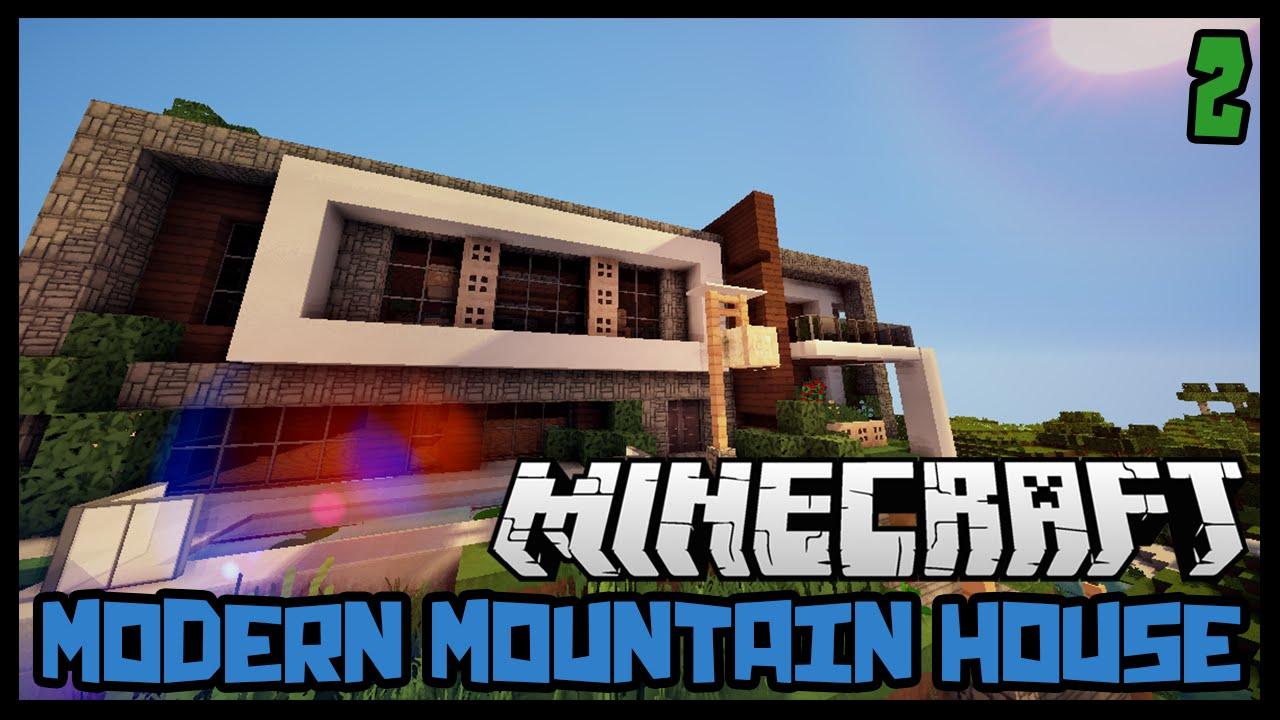 Minecraft: Modern Mountain House Tutorial