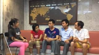 TMDU Myanmar Students - discussing