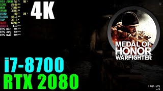 Medal of Honor Warfighter RTX 2080 OC & i7 8700@4.4GHZ [ Ultra - 4K ]