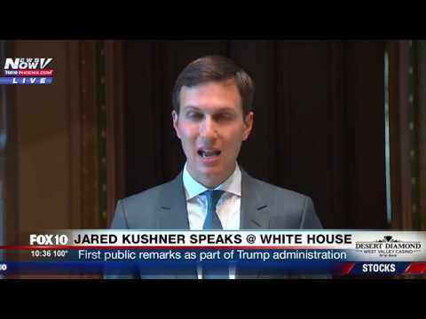 MUST WATCH: Jared Kushner Makes First Public Remarks as Senior Advisor at White House Event (FNN)