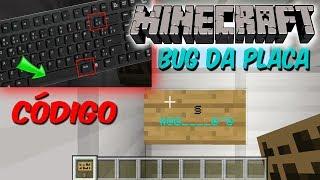 CÓDIGOS MINECRAFT CODE - como fazer bug da placa no minecraft xbox one