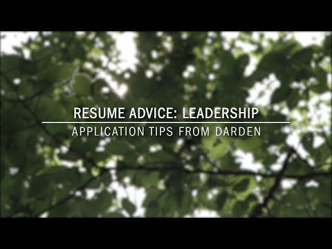 Resume Advice: Leadership