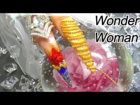 WONDER WOMAN / LASSO OF TRUTH / Acrylic nails | ABSOLUTE NAILS