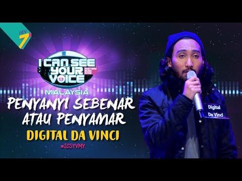 Penyanyi Sebenar Atau Penyamar - Digital Da Vinci    #ICSYVMY