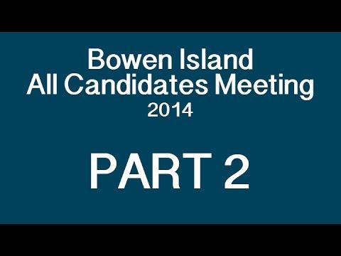 Bowen Island All Candidates Meeting 2014 PART 2