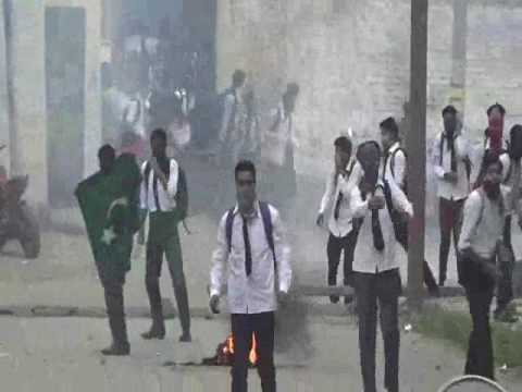 CLASHES IN GANDHI COLLEGE, SRINAGAR