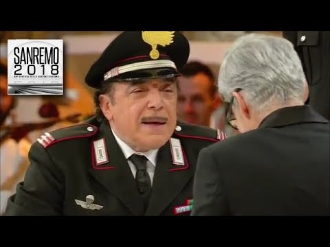 Sanremo 2018 - Nino Frassica, Memo Remigi e Claudio Baglioni in uno sketch esilarante