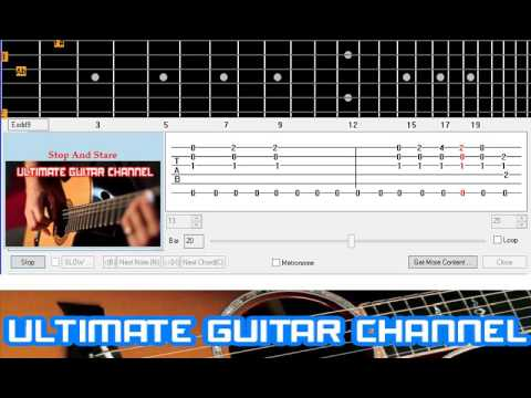 Guitar Solo Tab] Stop And Stare (One Republic) - YouTube