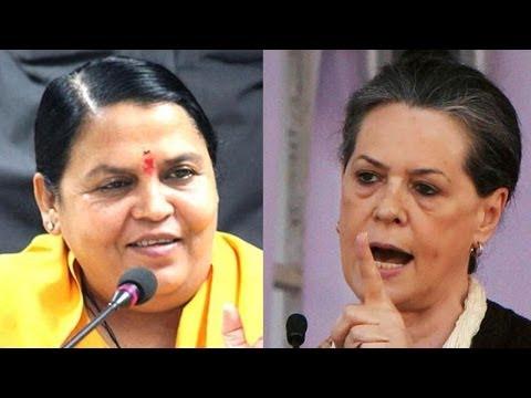 Uma Bharti reluctant to take on Sonia Gandhi in Rae Bareli