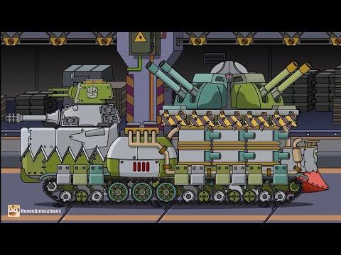 ОН МОНСТР - клип Мультики про танки (HomeAnimations КВ-44М) Tank Kb44m Vs Monsters