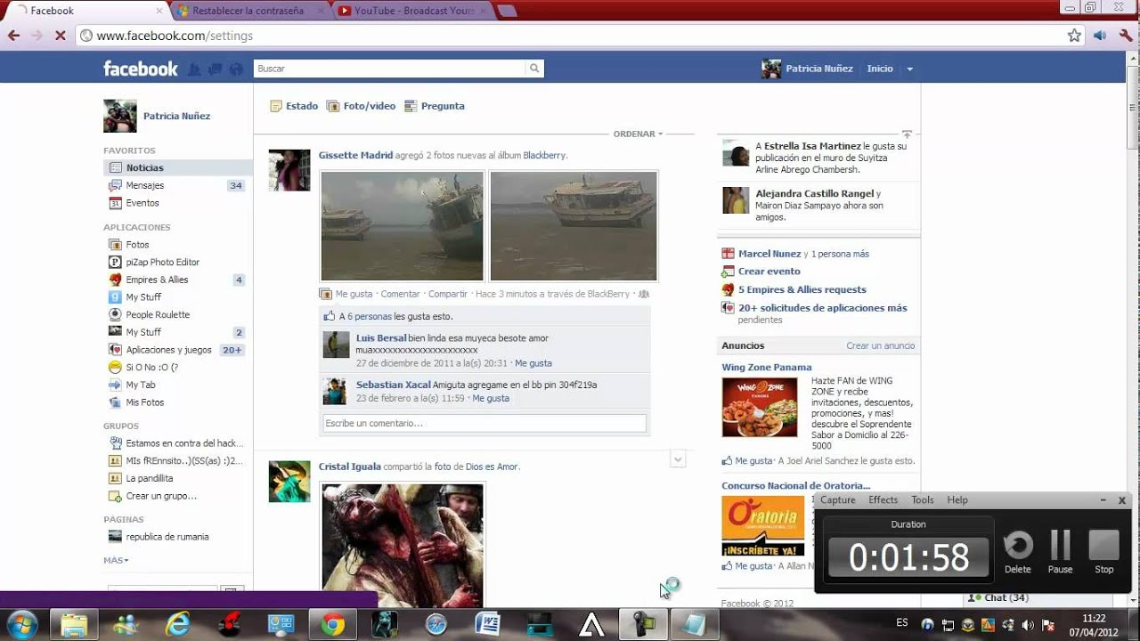 como cambiar el nombre de mi perfil de facebook.... - YouTube
