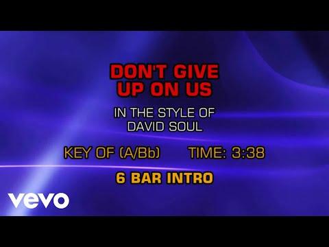 David Soul - Don't Give Up On Us (Karaoke)