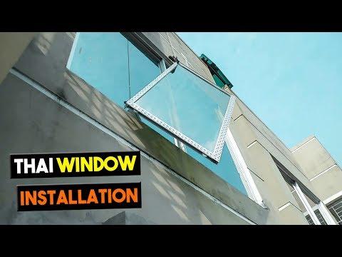 Thai Window Installation With Mosquito Net -মশারোধী নেট দিয়ে থাই জানালা সেটআপ   RK Thai Aluminium