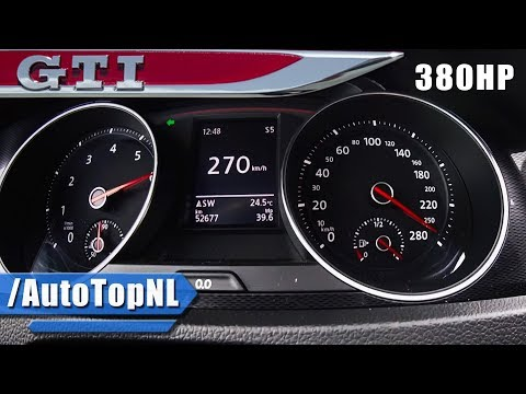 380HP VW Golf GTI MK7 0-273km/h ACCELERATION & SPEED HG Motorsport by AutoTopNL