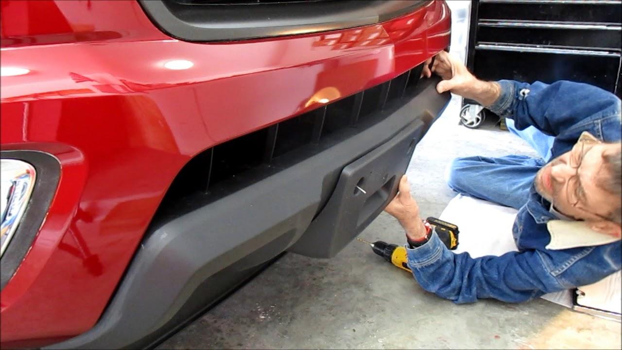 medium resolution of front license plate bracket installation on a 2018 colorado z71