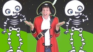 Skeleton Dance Halloween Song For Kids   With Maple Leaf Learning