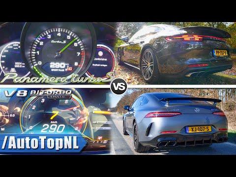 AMG GT 63 S 639HP vs 680HP Porsche Panamera Turbo S 0-290km/h AUTOBAHN POV & SOUND by AutoTopNL