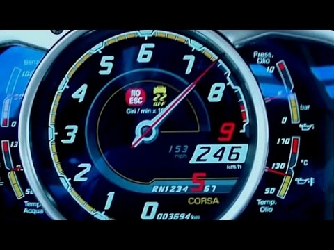 Lamborghini Aventador LP700-4 Acceleration from 0 to 300 KM/H (Top Gear)