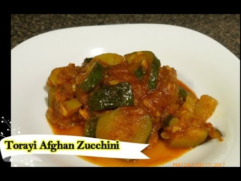 Torayi (Afghan Zucchini) Veggie Afghan Dish