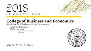 College of Business and Economics Graduate and Undergraduate Ceremony