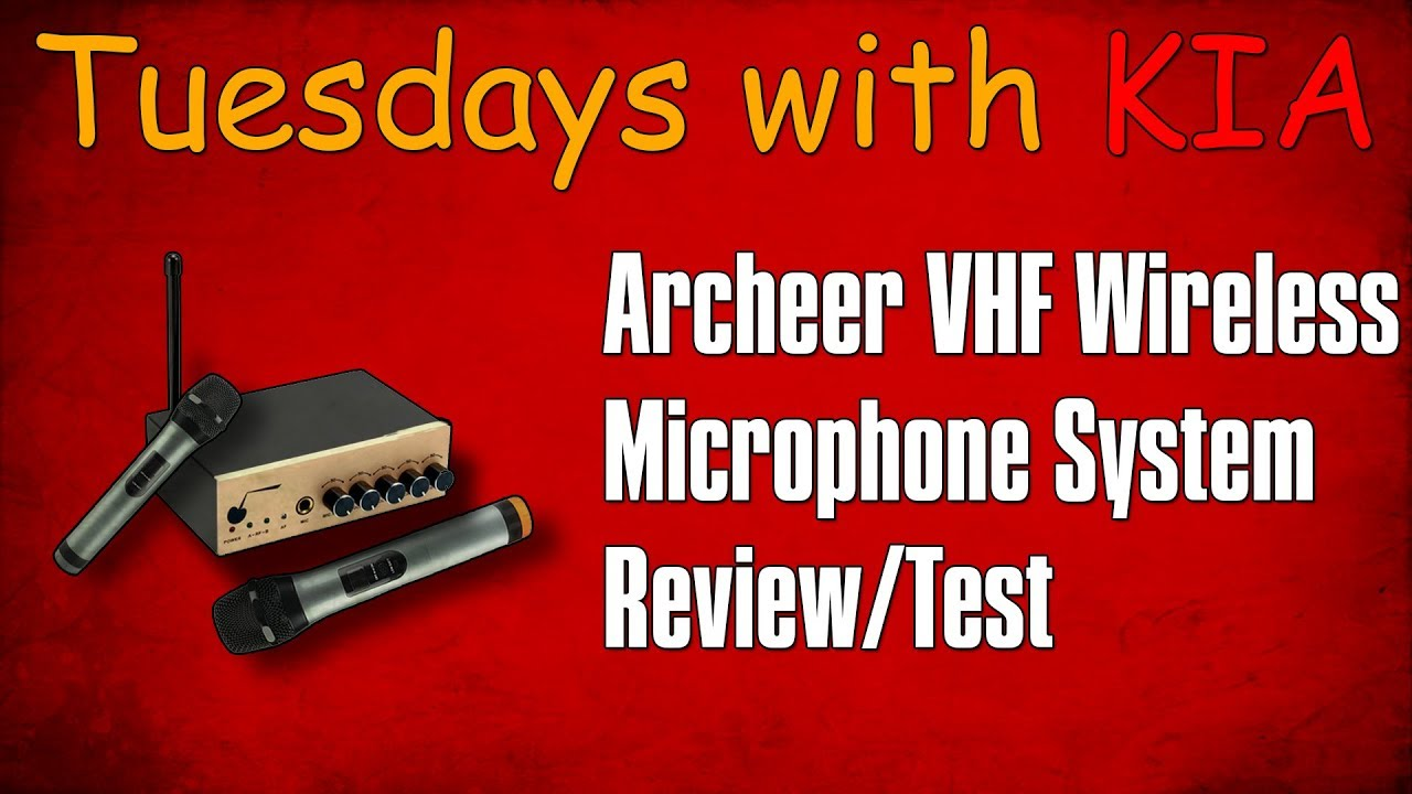 archeer vhf bluetooth wireless microphone system review test tuesdays with kia sponsored. Black Bedroom Furniture Sets. Home Design Ideas