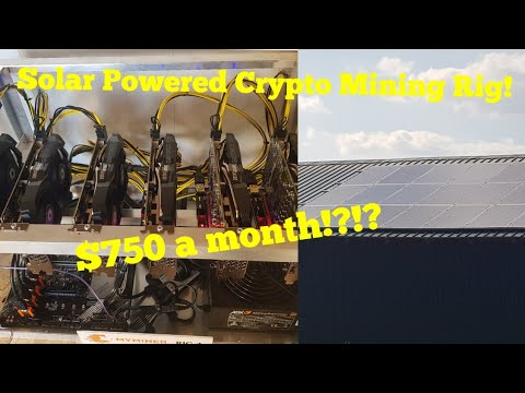 Solar powered crypto mining Rig!! $750 a month?! First day of mining cryptocurrency on our solar