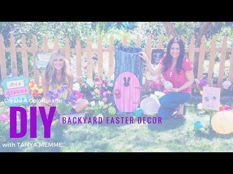 DIY Backyard Easter Decor