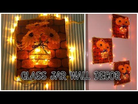 DIY Glass Jar Decor | Glass Jar Wall Decor | Easy Mason Jar Craft