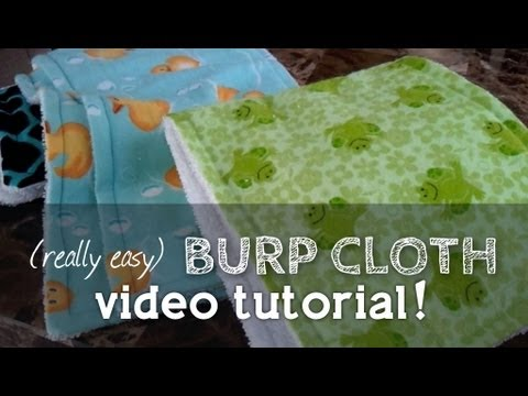 How to Sew a Burp Cloth (Perfect for Beginners    So easy to make!!)