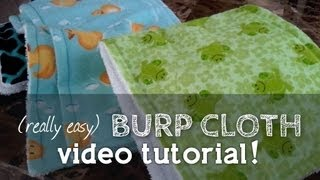 How to Sew a Burp Cloth (Perfect for Beginners... So easy to make!!)