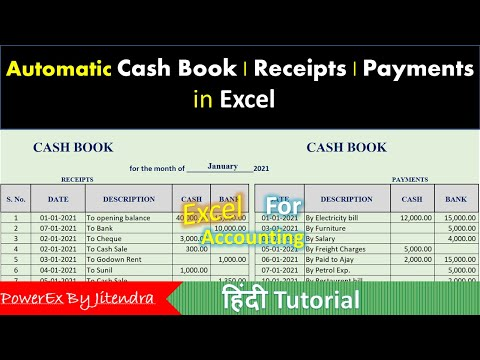 Cash Book in Excel (Hindi)   Double Column Cash Book