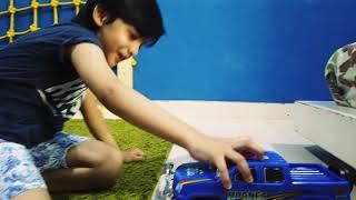 Monster Police Car Toy | Najiullah and Safiullah play with  Monster Trucks