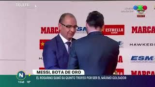 Lionel Messi recibió su quinta bota de oro