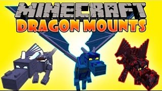 обзор модов Minecraft #155 Dragon Mounts Mod 1.10.2/1.9.4 - Летает и больно кусает =)