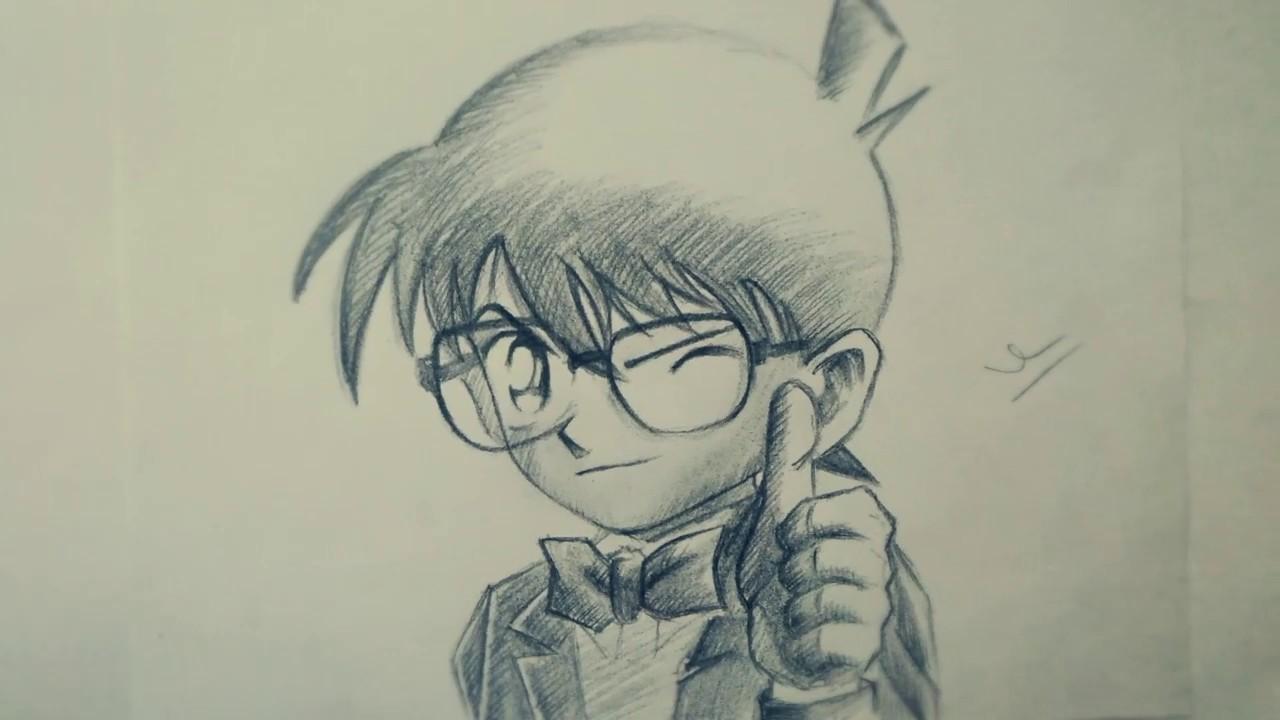 Học vẽ Edogawa Conan (Thám tử lừng danh Conan)|| HOW TO DRAW EDOGAWA CONAN (DETECTIVE CONAN),PENCIL!