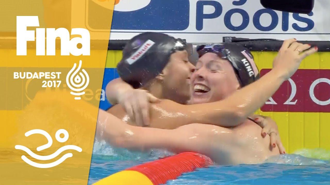 Lilly King sets 50 breaststroke world record, beats Yulia Efimova