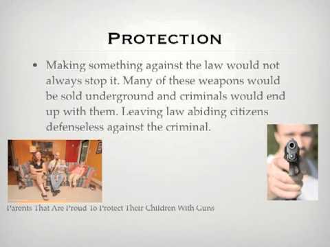 Research paper against gun control